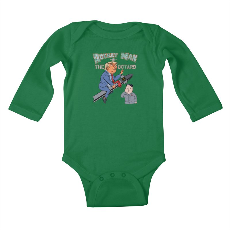 Rocket Man & the Dotard Kids Baby Longsleeve Bodysuit by Frankenstein's Artist Shop
