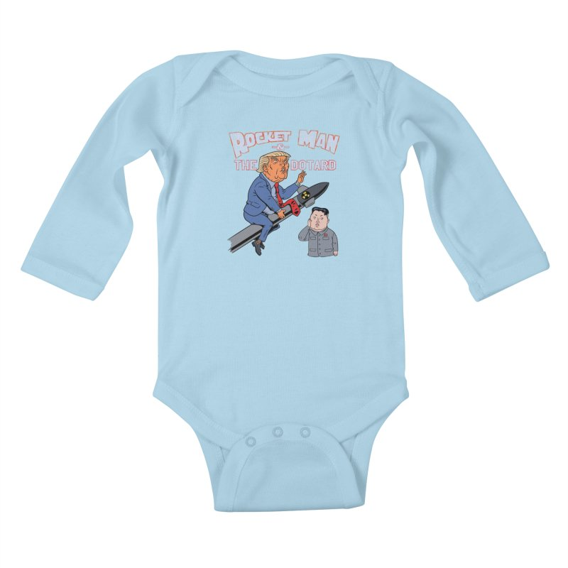 Rocket Man & the Dotard Kids Baby Longsleeve Bodysuit by Frankenstein's Artist Shop