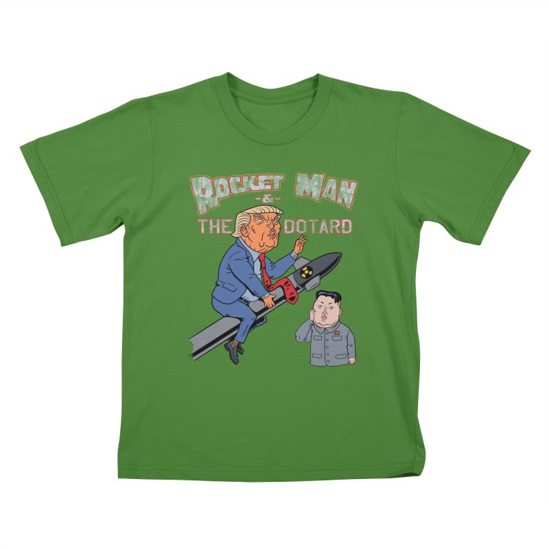 Rocket Man & the Dotard Kids T-Shirt by Frankenstein's Artist Shop