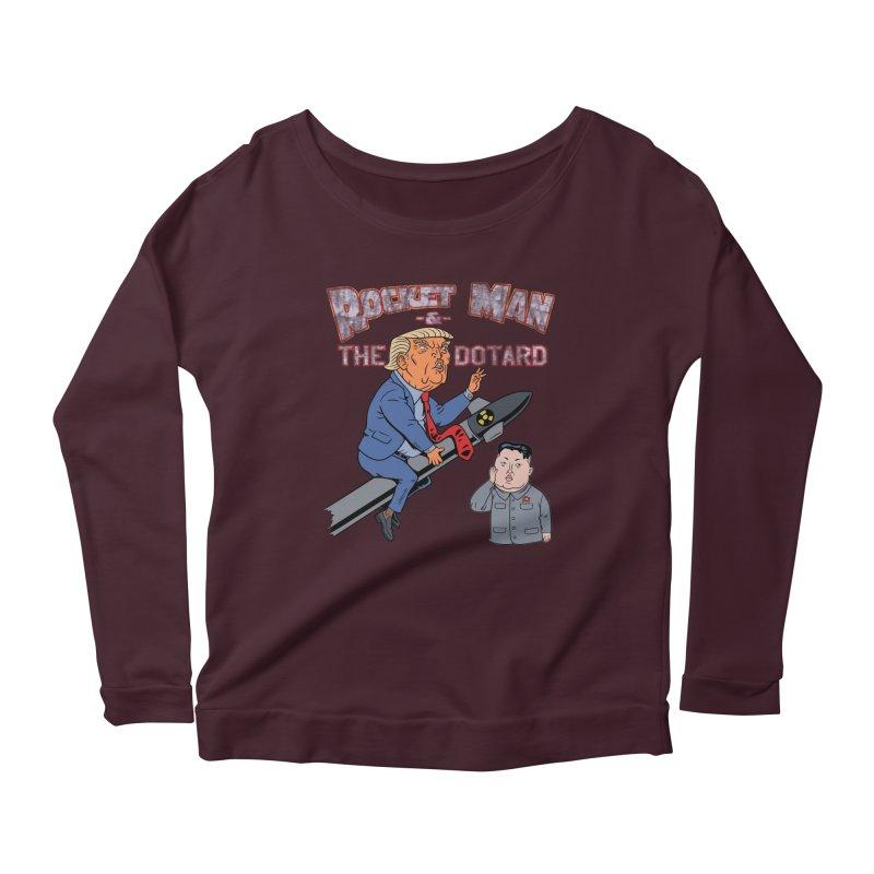 Rocket Man & the Dotard Women's Scoop Neck Longsleeve T-Shirt by Frankenstein's Artist Shop