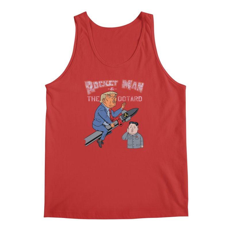 Rocket Man & the Dotard Men's Regular Tank by Frankenstein's Artist Shop
