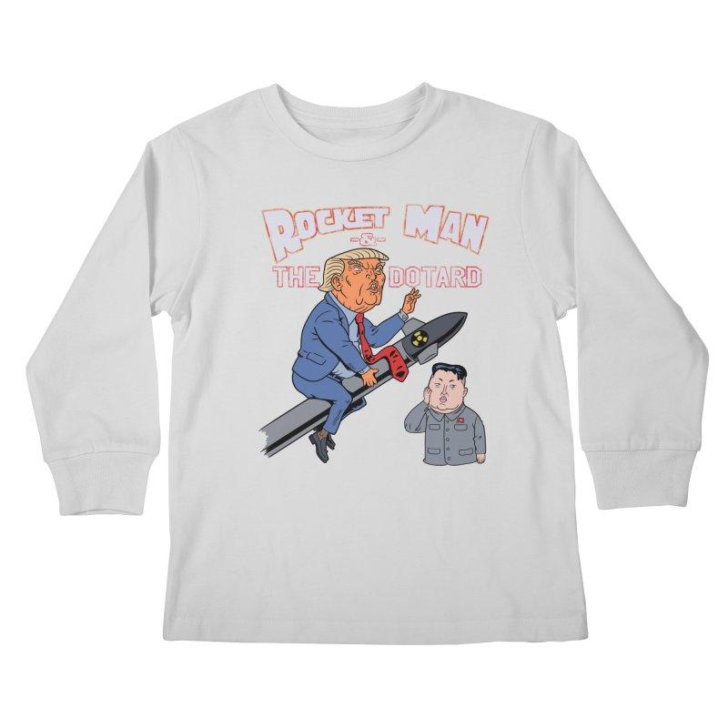 Rocket Man & the Dotard Kids Longsleeve T-Shirt by Frankenstein's Artist Shop