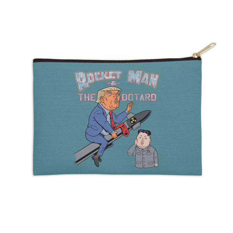 Rocket Man & the Dotard Accessories Zip Pouch by Frankenstein's Artist Shop
