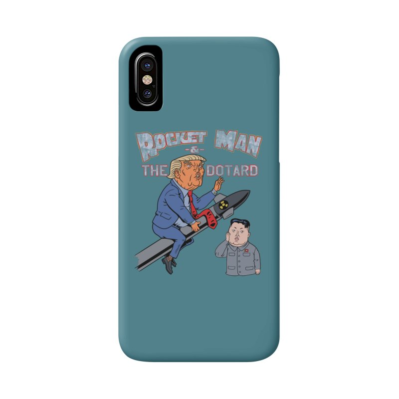 Rocket Man & the Dotard Accessories Phone Case by Frankenstein's Artist Shop