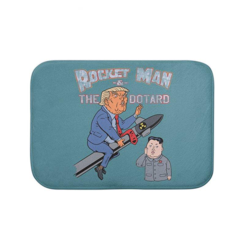 Rocket Man & the Dotard Home Bath Mat by Frankenstein's Artist Shop
