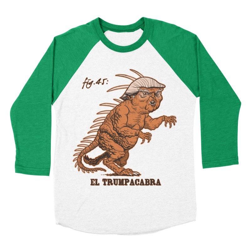 El Trumpacabra Women's Baseball Triblend T-Shirt by Frankenstein's Artist Shop
