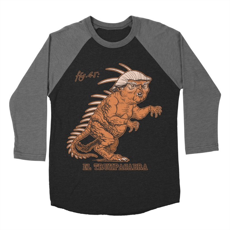 El Trumpacabra Women's Baseball Triblend Longsleeve T-Shirt by Frankenstein's Artist Shop