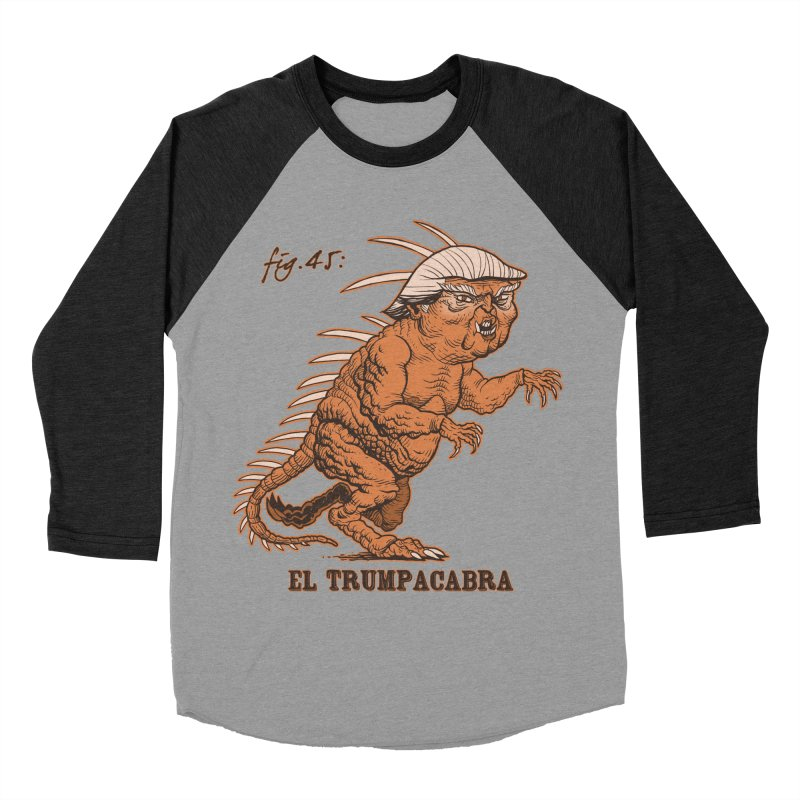 El Trumpacabra Men's Baseball Triblend Longsleeve T-Shirt by Frankenstein's Artist Shop