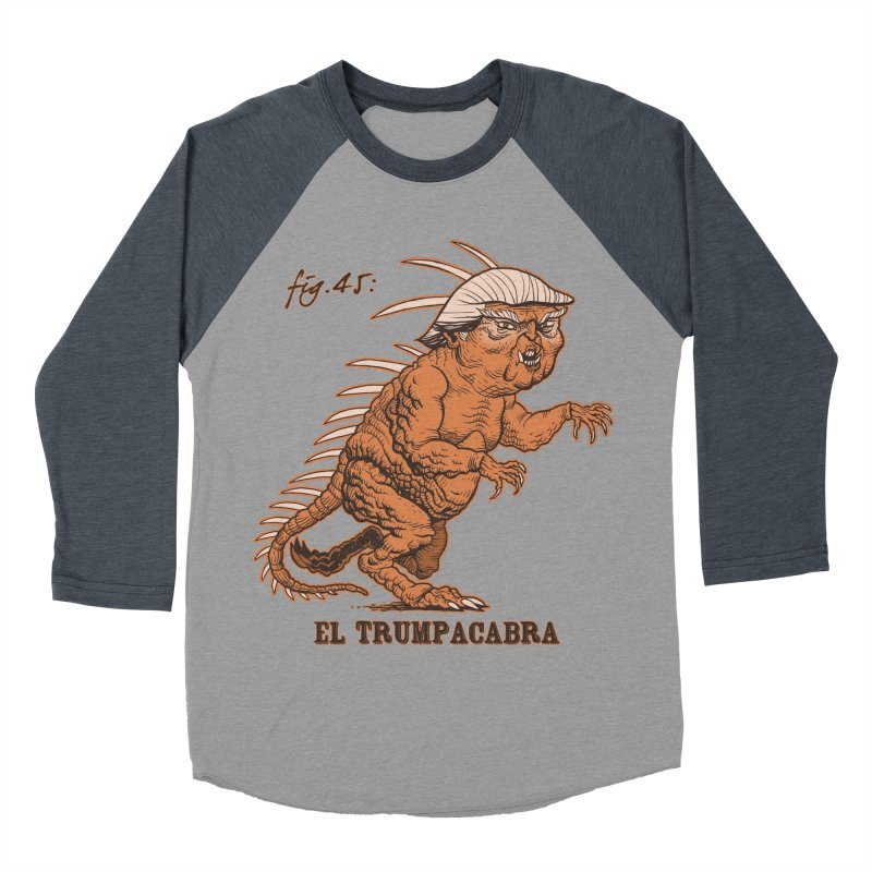 El Trumpacabra Men's Baseball Triblend T-Shirt by Frankenstein's Artist Shop