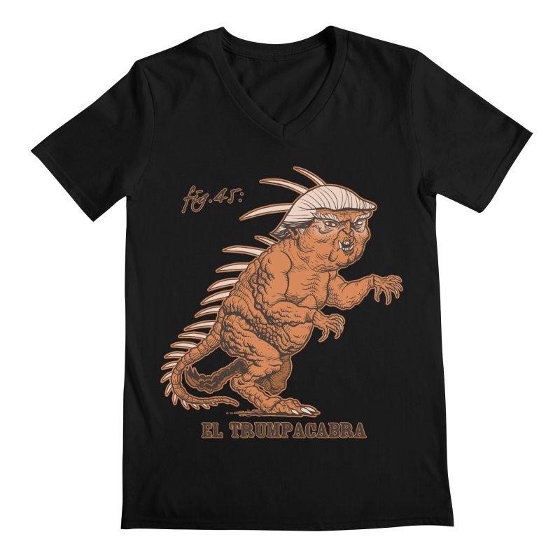 El Trumpacabra Men's V-Neck by Frankenstein's Artist Shop