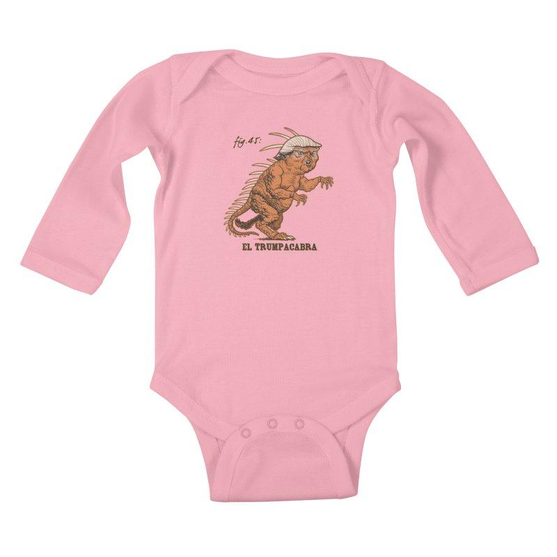 El Trumpacabra Kids Baby Longsleeve Bodysuit by Frankenstein's Artist Shop