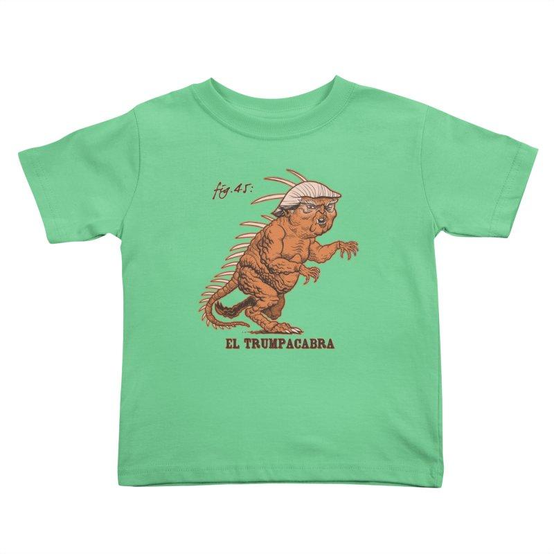 El Trumpacabra Kids Toddler T-Shirt by Frankenstein's Artist Shop