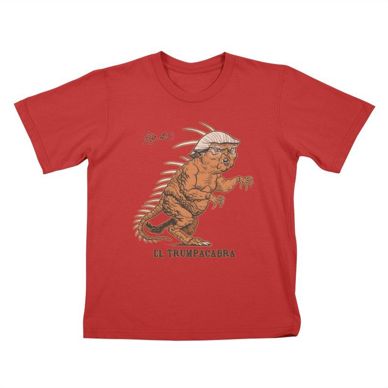 El Trumpacabra Kids T-Shirt by Frankenstein's Artist Shop