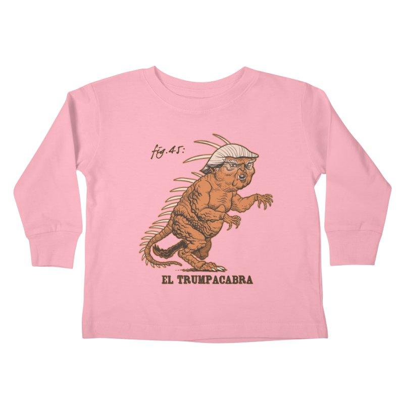 El Trumpacabra Kids Toddler Longsleeve T-Shirt by Frankenstein's Artist Shop