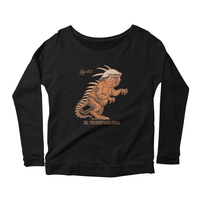 El Trumpacabra Women's Scoop Neck Longsleeve T-Shirt by Frankenstein's Artist Shop