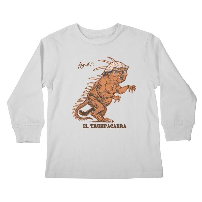 El Trumpacabra Kids Longsleeve T-Shirt by Frankenstein's Artist Shop