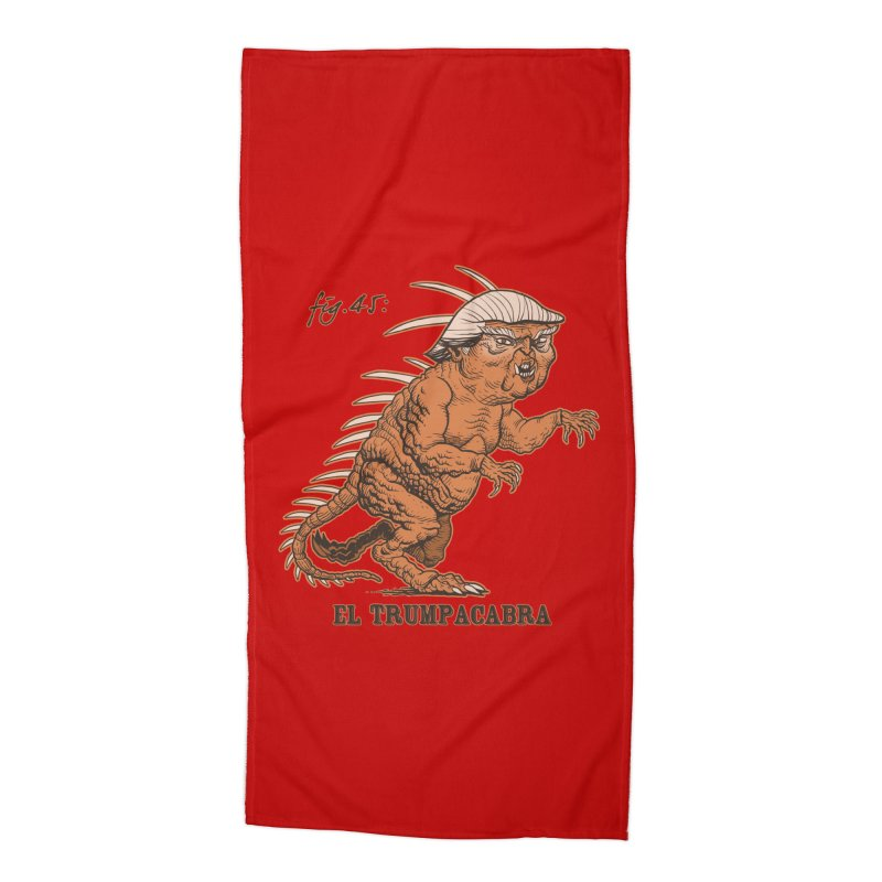 El Trumpacabra Accessories Beach Towel by Frankenstein's Artist Shop