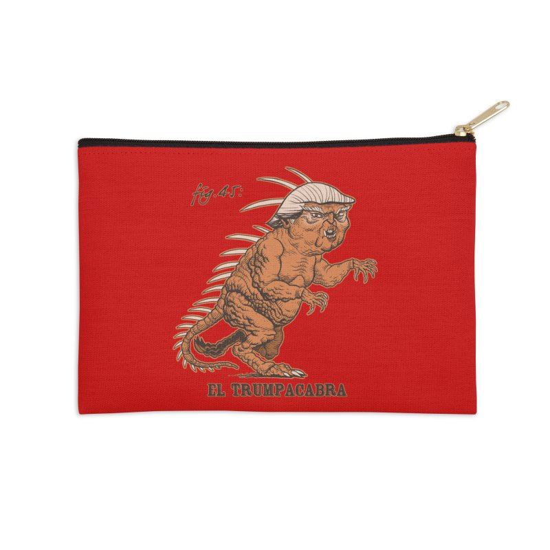 El Trumpacabra Accessories Zip Pouch by Frankenstein's Artist Shop