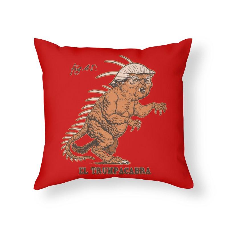 El Trumpacabra Home Throw Pillow by Frankenstein's Artist Shop