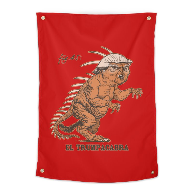 El Trumpacabra Home Tapestry by Frankenstein's Artist Shop