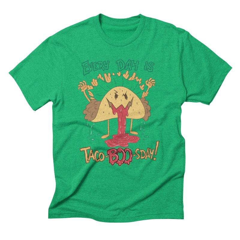 Every Day is Taco-BOO-sday! Men's Triblend T-Shirt by Frankenstein's Artist Shop