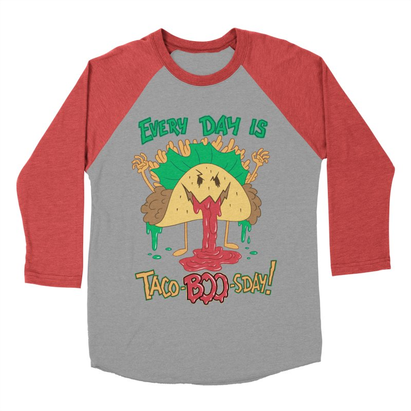 Every Day is Taco-BOO-sday! Women's Baseball Triblend Longsleeve T-Shirt by Frankenstein's Artist Shop