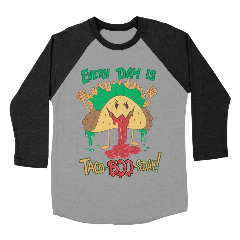 Every Day is Taco-BOO-sday! Men's Baseball Triblend Longsleeve T-Shirt by Frankenstein's Artist Shop