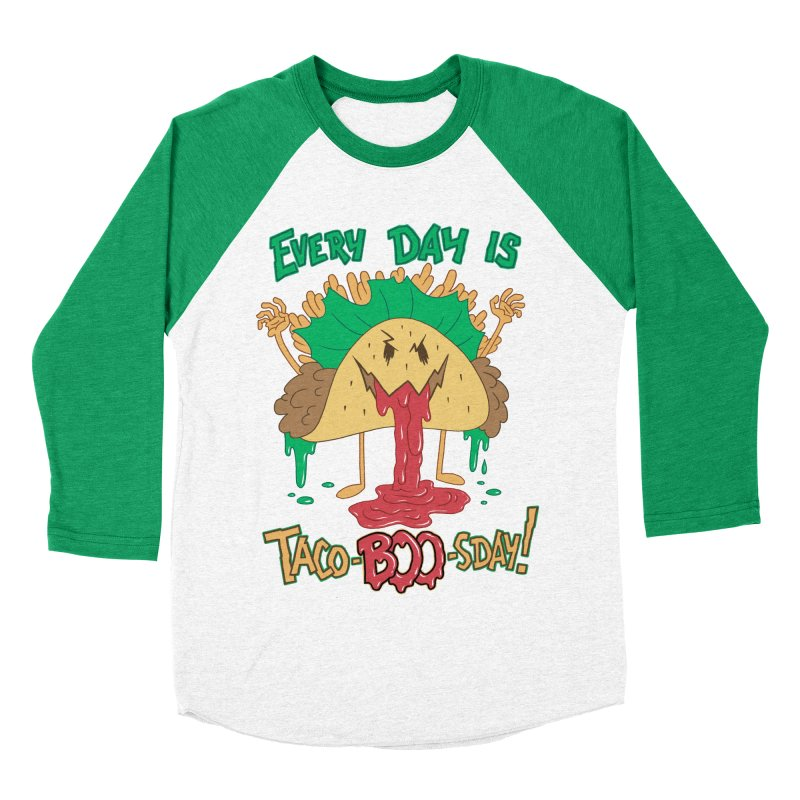 Every Day is Taco-BOO-sday! Men's Baseball Triblend T-Shirt by Frankenstein's Artist Shop
