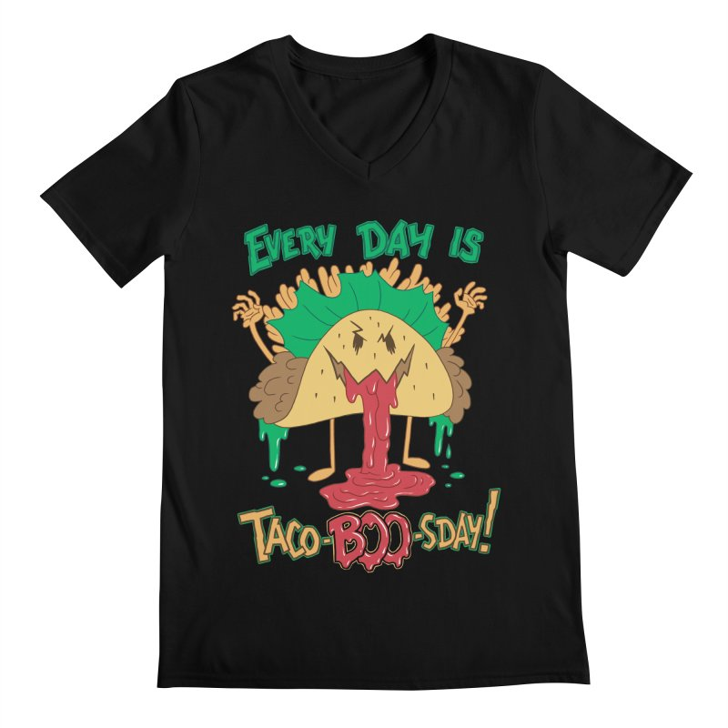 Every Day is Taco-BOO-sday! Men's Regular V-Neck by Frankenstein's Artist Shop