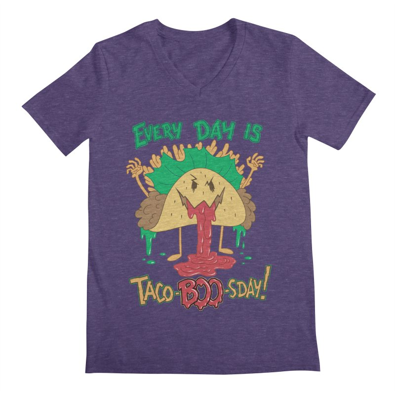 Every Day is Taco-BOO-sday! Men's V-Neck by Frankenstein's Artist Shop