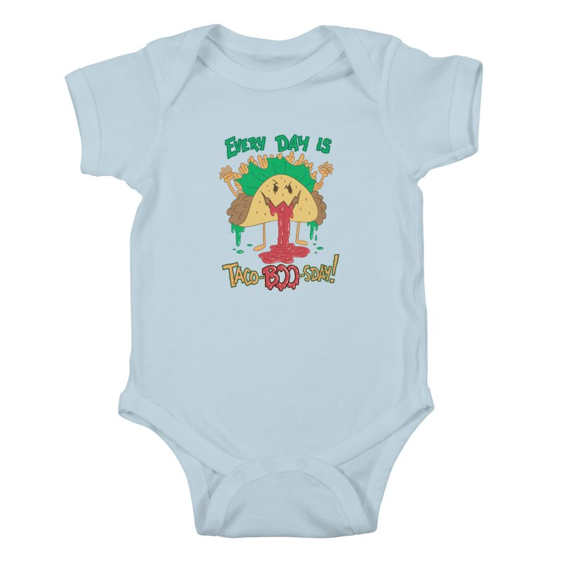 Every Day is Taco-BOO-sday! Kids Baby Bodysuit by Frankenstein's Artist Shop
