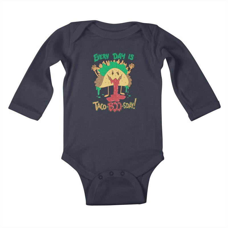 Every Day is Taco-BOO-sday! Kids Baby Longsleeve Bodysuit by Frankenstein's Artist Shop