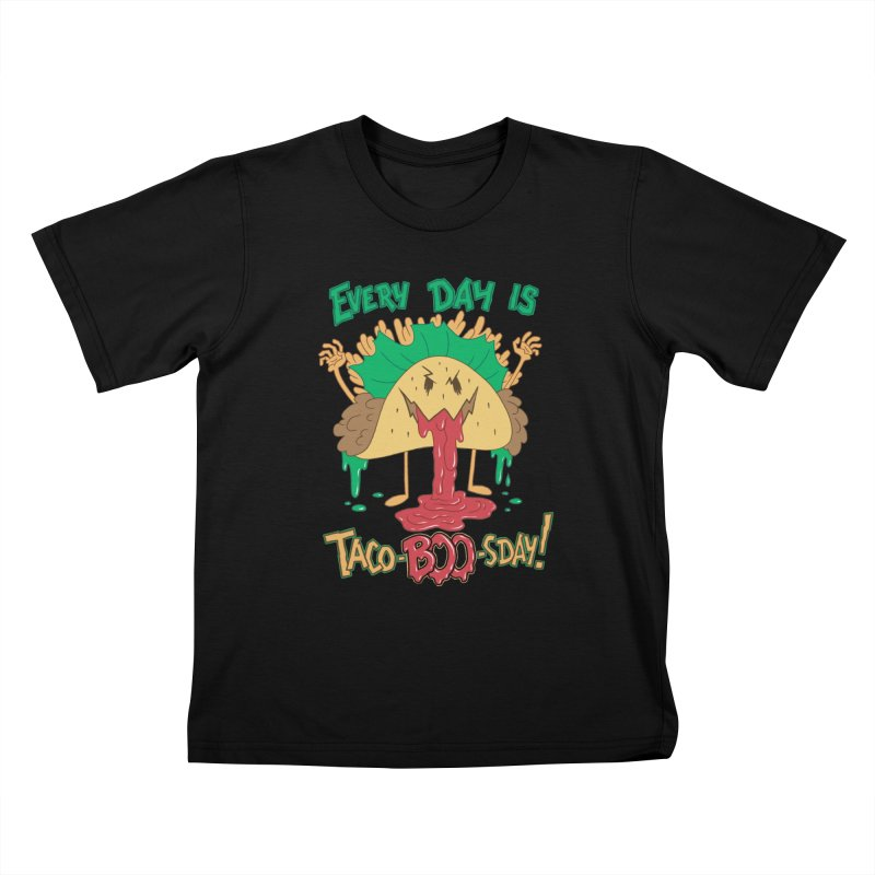 Every Day is Taco-BOO-sday! Kids T-Shirt by Frankenstein's Artist Shop