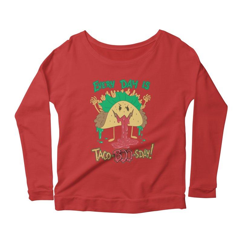 Every Day is Taco-BOO-sday! Women's Longsleeve Scoopneck  by Frankenstein's Artist Shop