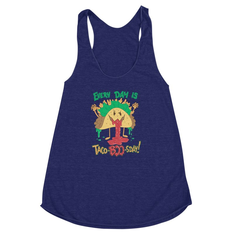 Every Day is Taco-BOO-sday! Women's Racerback Triblend Tank by Frankenstein's Artist Shop