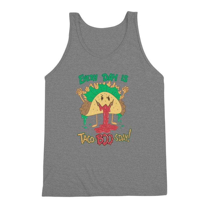 Every Day is Taco-BOO-sday! Men's Triblend Tank by Frankenstein's Artist Shop