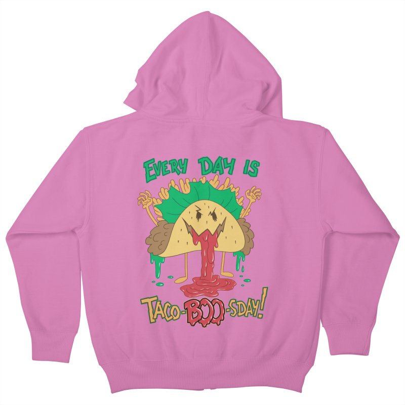 Every Day is Taco-BOO-sday! Kids Zip-Up Hoody by Frankenstein's Artist Shop