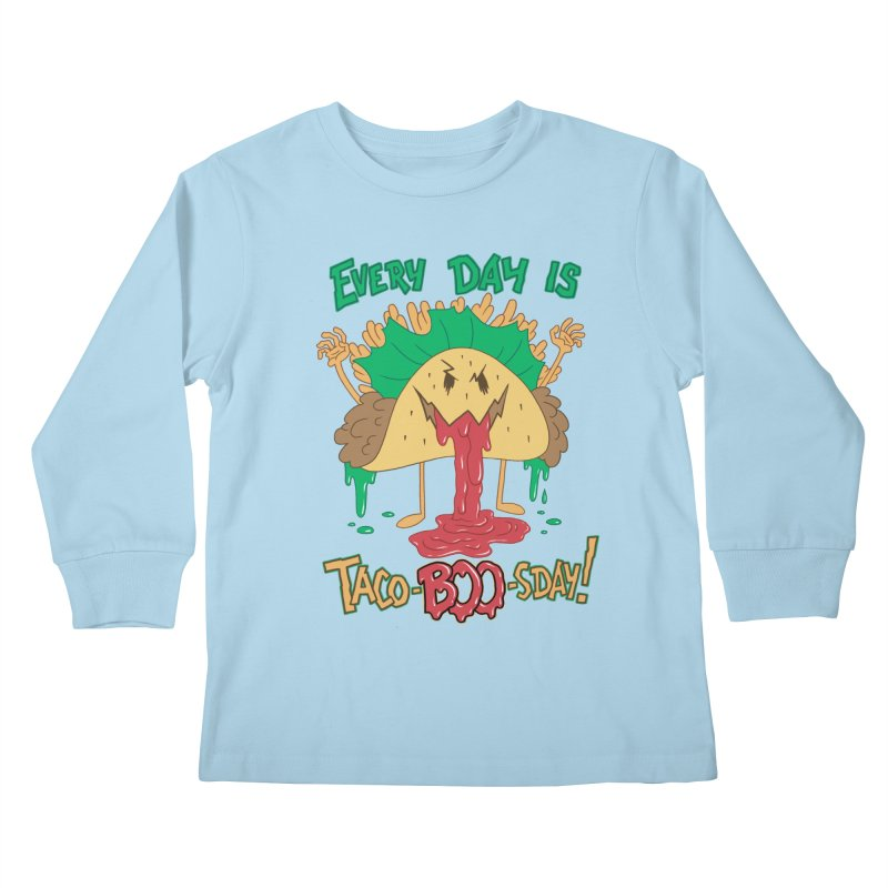 Every Day is Taco-BOO-sday! Kids Longsleeve T-Shirt by Frankenstein's Artist Shop