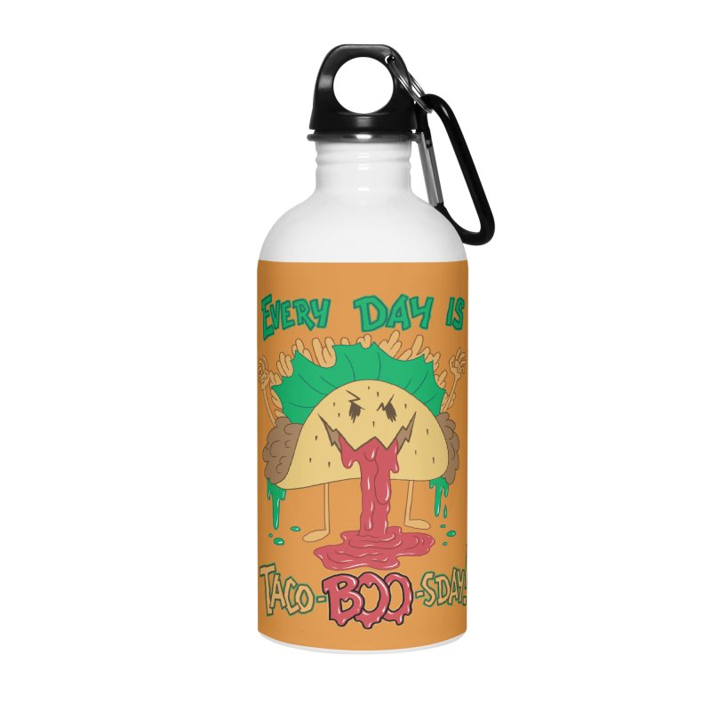 Every Day is Taco-BOO-sday! Accessories Water Bottle by Frankenstein's Artist Shop