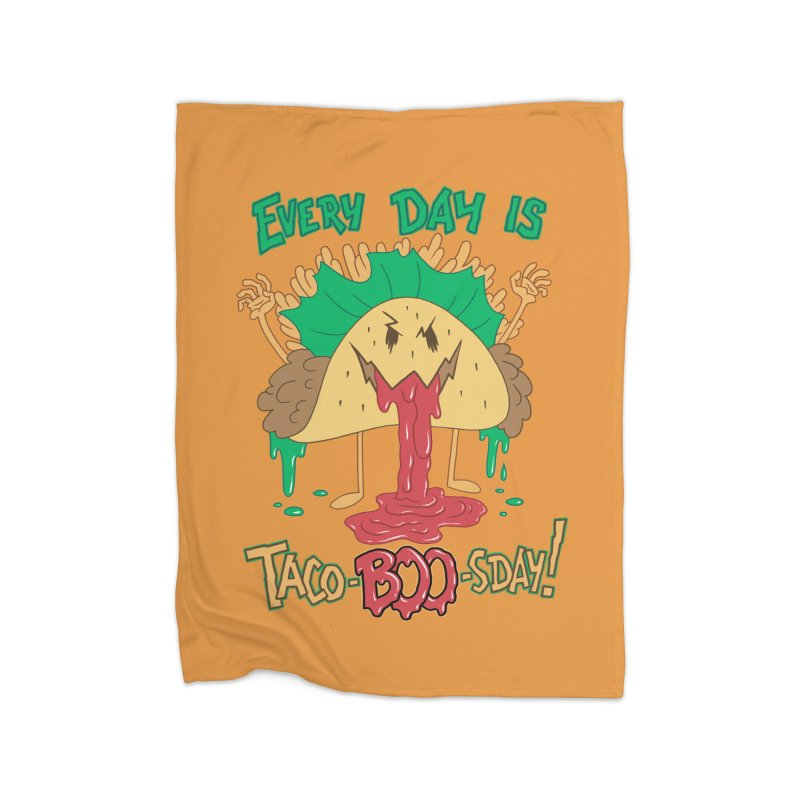 Every Day is Taco-BOO-sday! Home Fleece Blanket Blanket by Frankenstein's Artist Shop