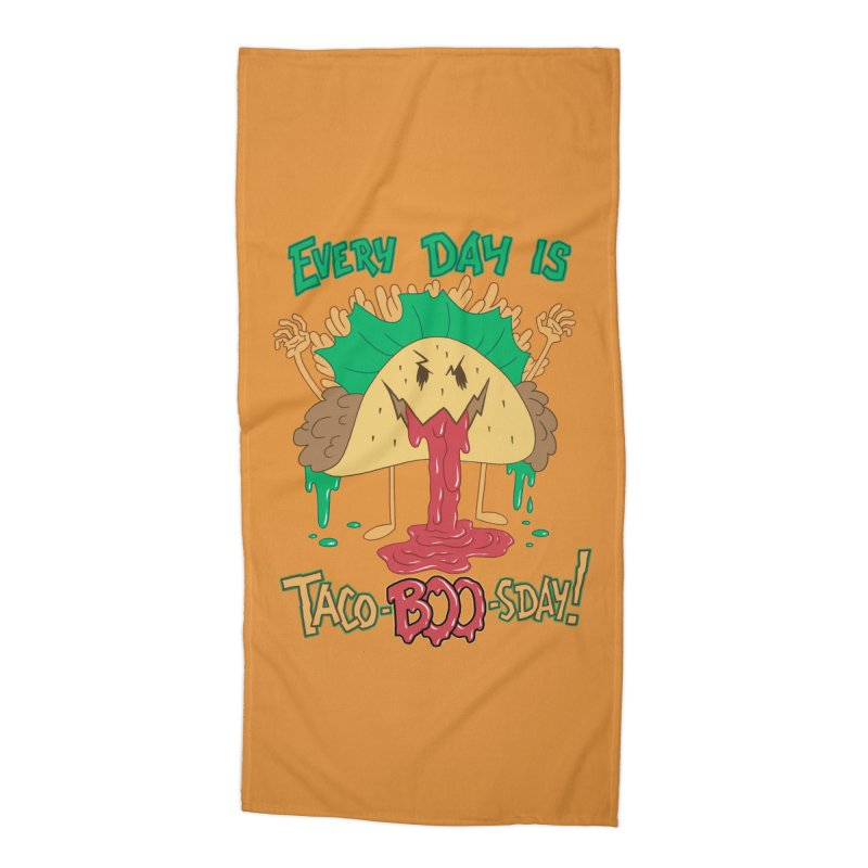 Every Day is Taco-BOO-sday! Accessories Beach Towel by Frankenstein's Artist Shop