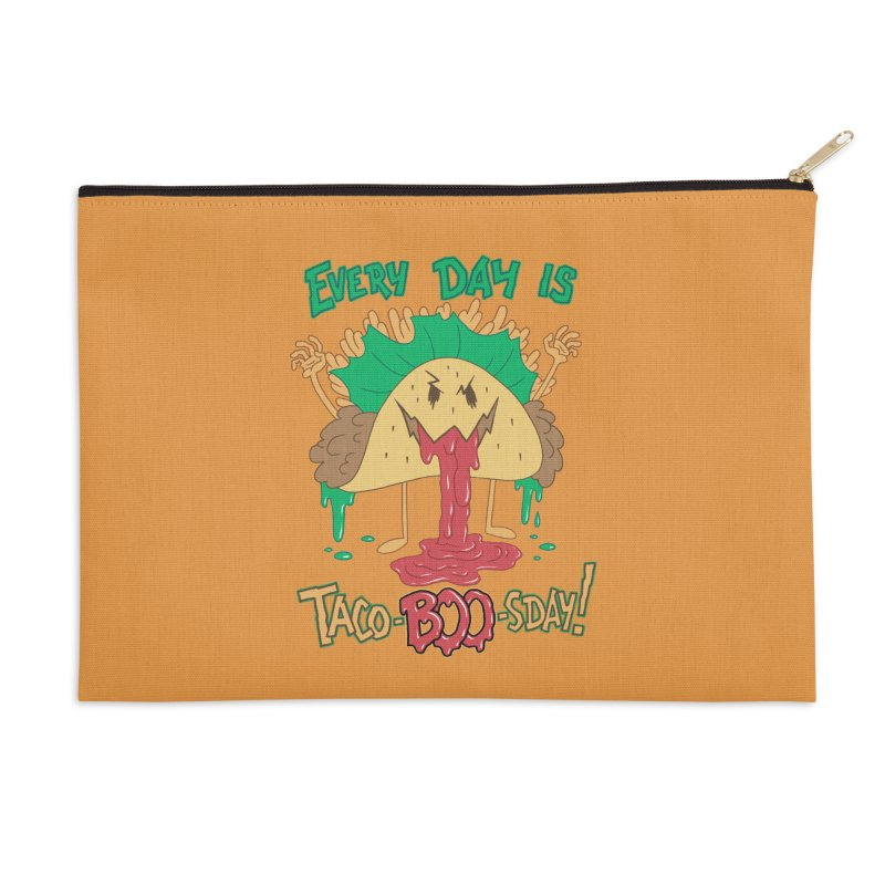 Every Day is Taco-BOO-sday! Accessories Zip Pouch by Frankenstein's Artist Shop