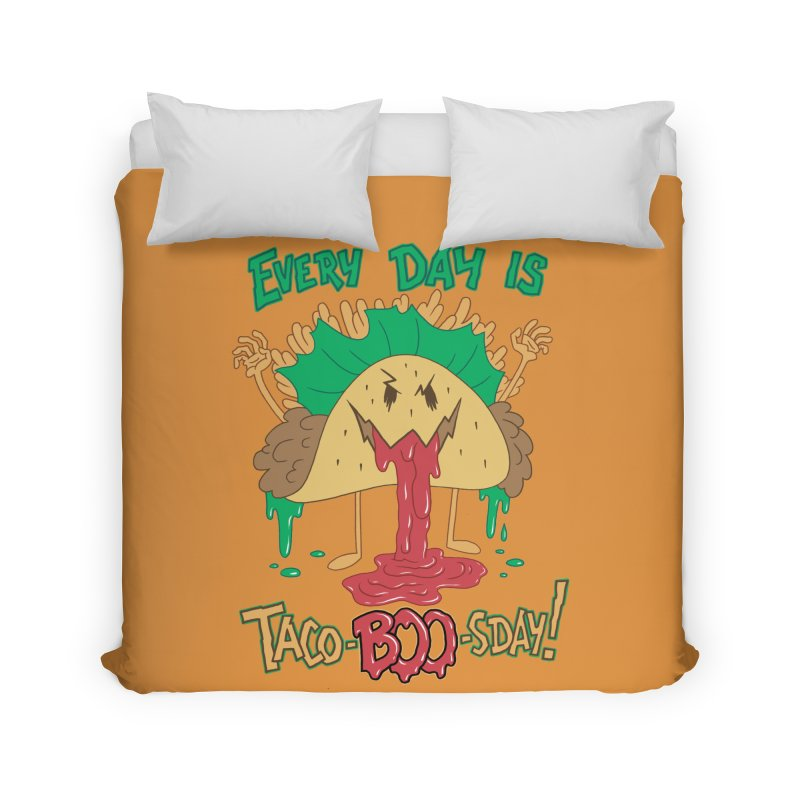 Every Day is Taco-BOO-sday! Home Duvet by Frankenstein's Artist Shop