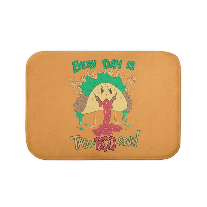 Every Day is Taco-BOO-sday! Home Bath Mat by Frankenstein's Artist Shop