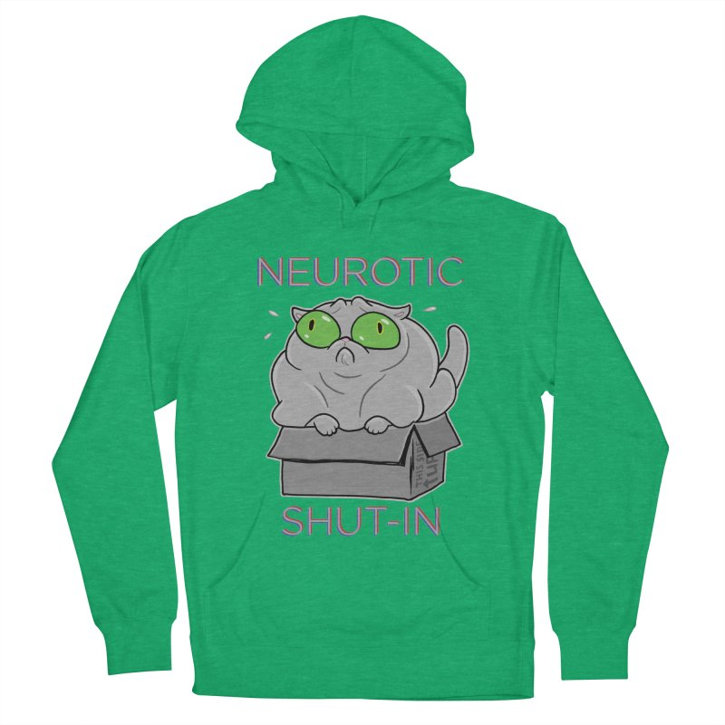 Neurotic Shut-In Men's French Terry Pullover Hoody by Frankenstein's Artist Shop