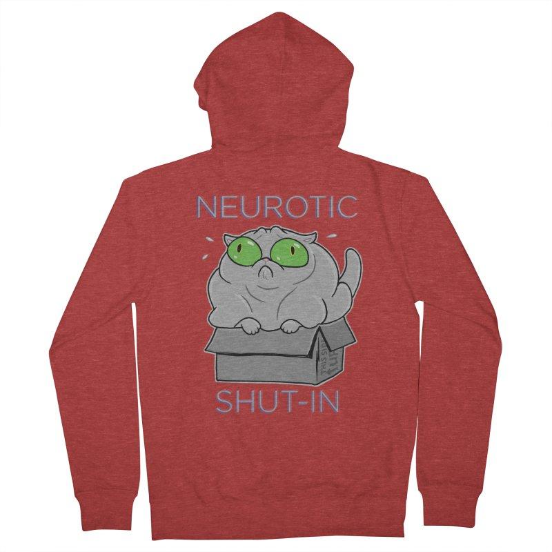 Neurotic Shut-In Women's French Terry Zip-Up Hoody by Frankenstein's Artist Shop