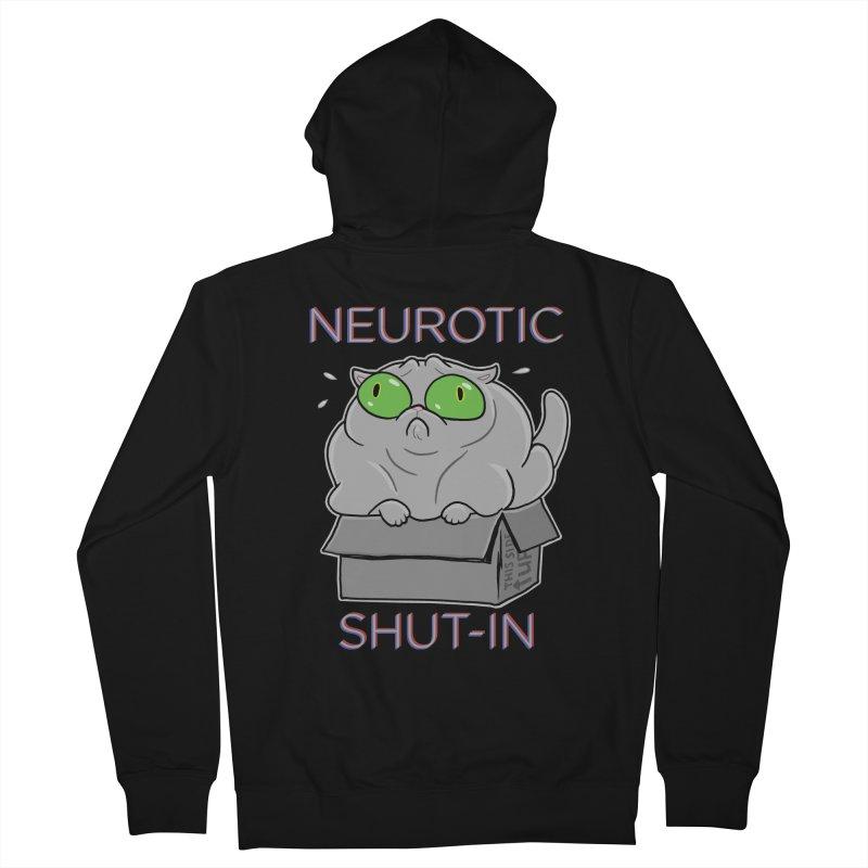 Neurotic Shut-In Men's French Terry Zip-Up Hoody by Frankenstein's Artist Shop