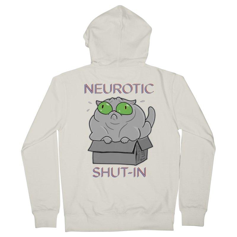 Neurotic Shut-In Men's Zip-Up Hoody by Frankenstein's Artist Shop