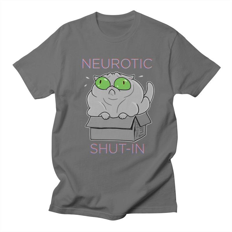 Neurotic Shut-In Men's Regular T-Shirt by Frankenstein's Artist Shop