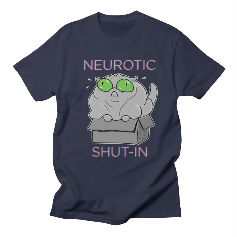 Neurotic Shut-In Men's Regular T-Shirt by Frankenstein's Artist Shop
